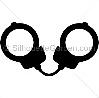 Handcuff images gallery for. Handcuffs clipart silhouette