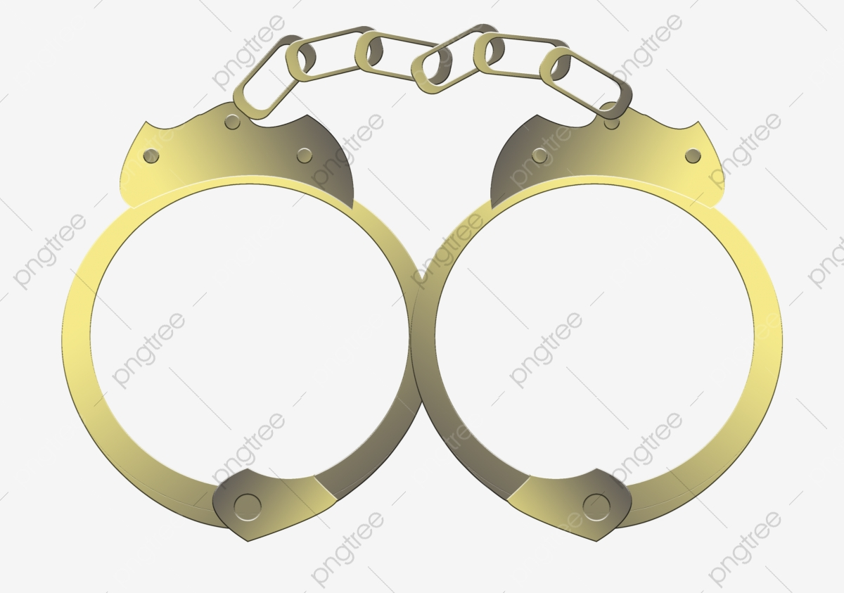 Black convict png . Handcuffs clipart tool