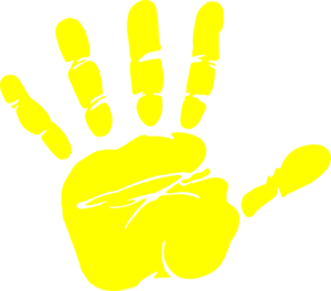 Yellow . Handprint clipart