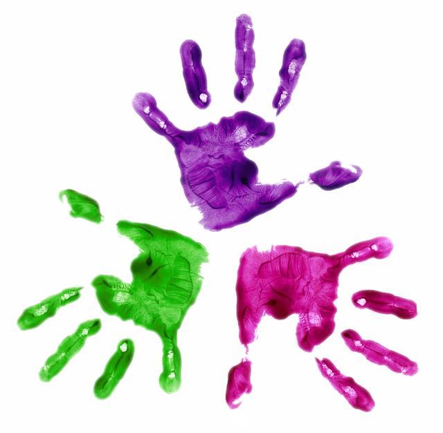 Kids panda free images. Handprint clipart