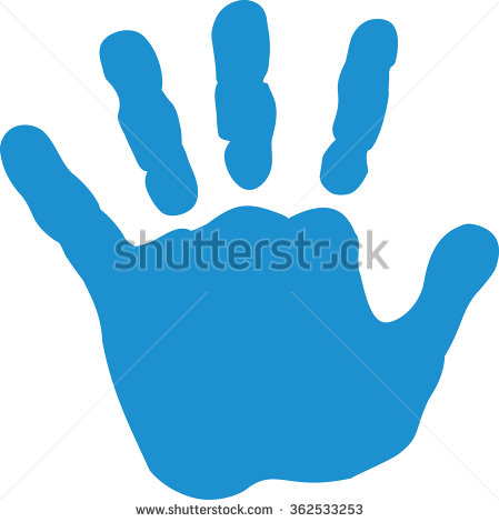Handprint clipart baby boy. Free download best