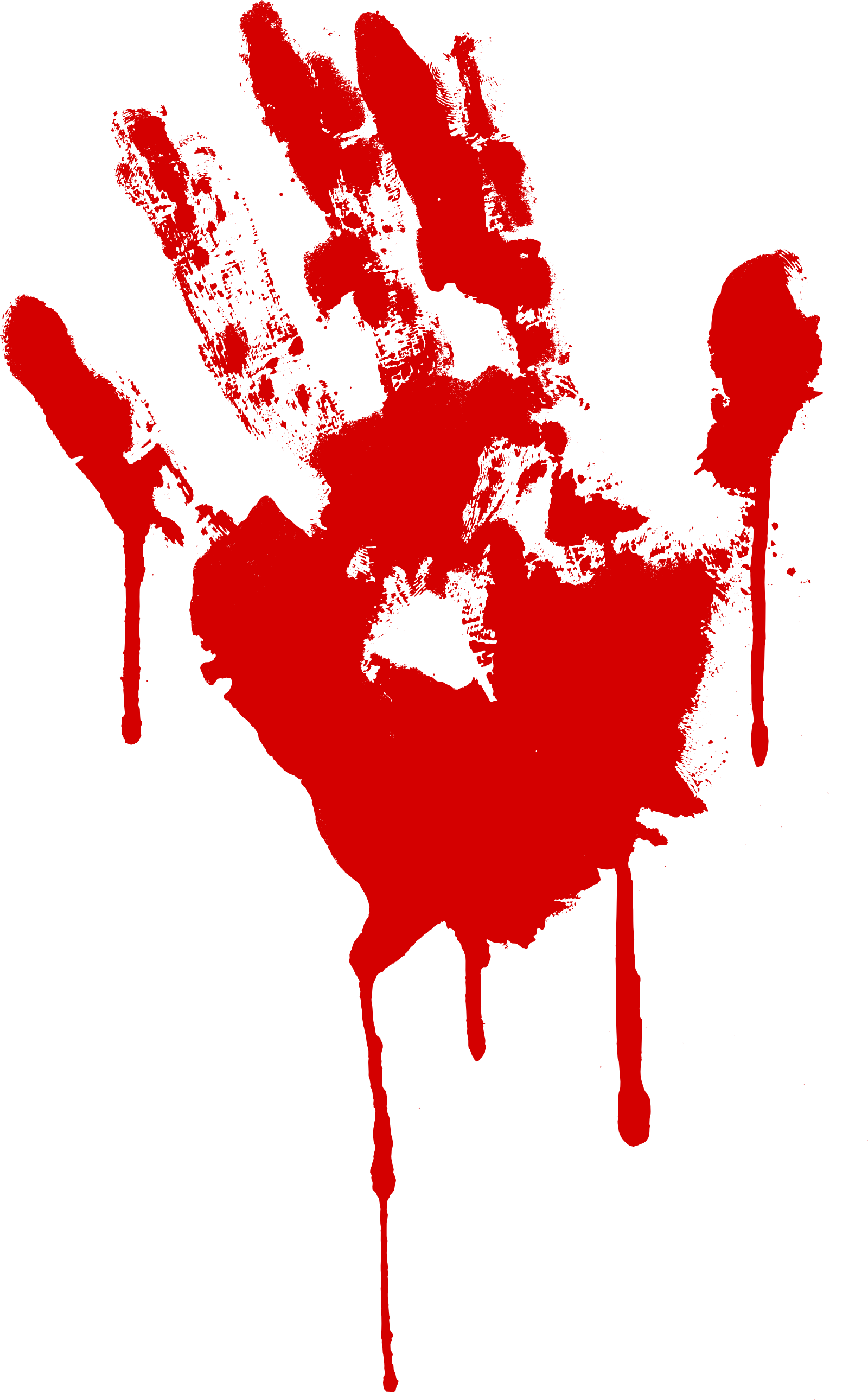 Dripping bloody . Paint clipart handprint