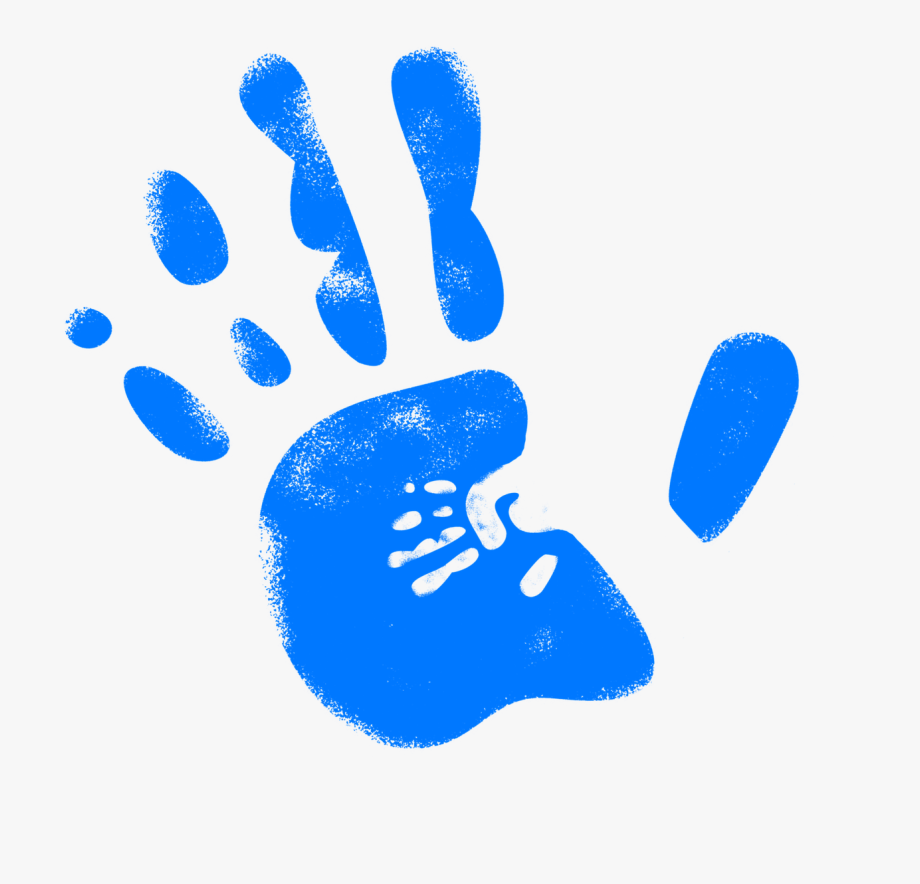 Handprint clipart blue. Hand reprint free picture