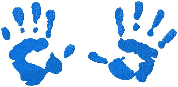 Free download best on. Handprint clipart blue