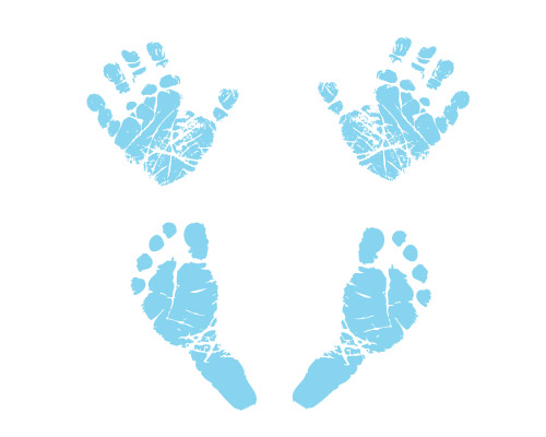 Handprint clipart blue baby. Free cliparts download clip