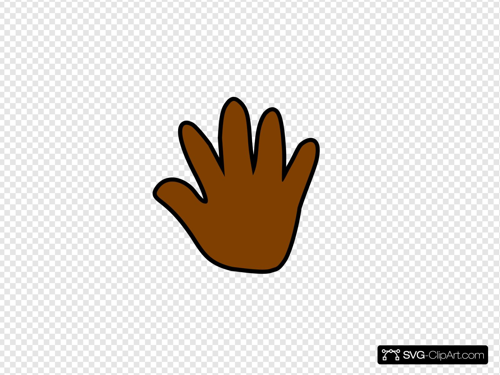 Handprint clipart brown. Dark clip art icon