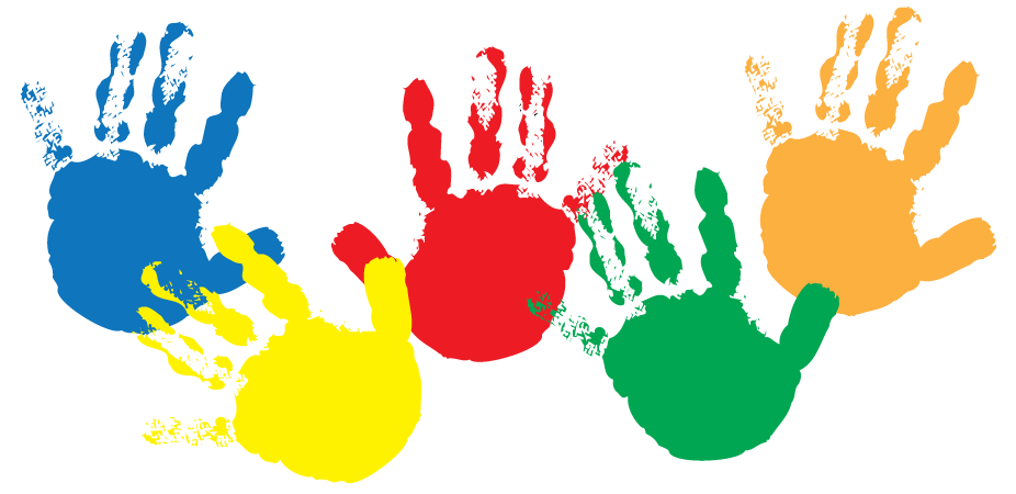 Handprints aag newsletter . Handprint clipart childcare