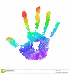 Kid free images at. Handprint clipart child's