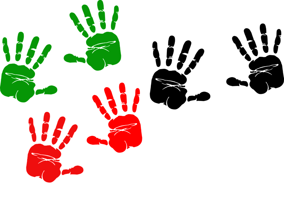 Handprint clipart child's. Baby cliparts shop of