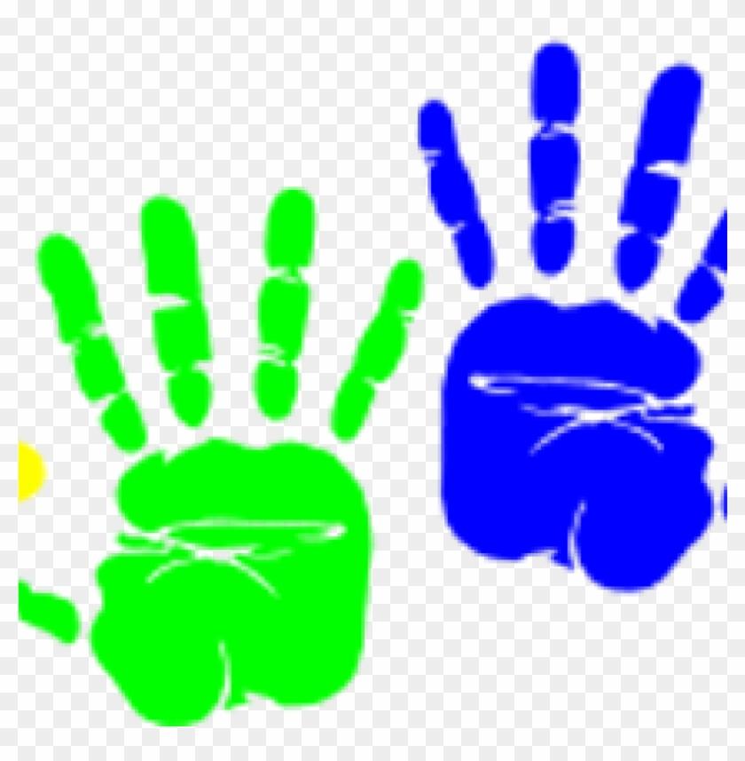Preschool black . Handprint clipart clip art