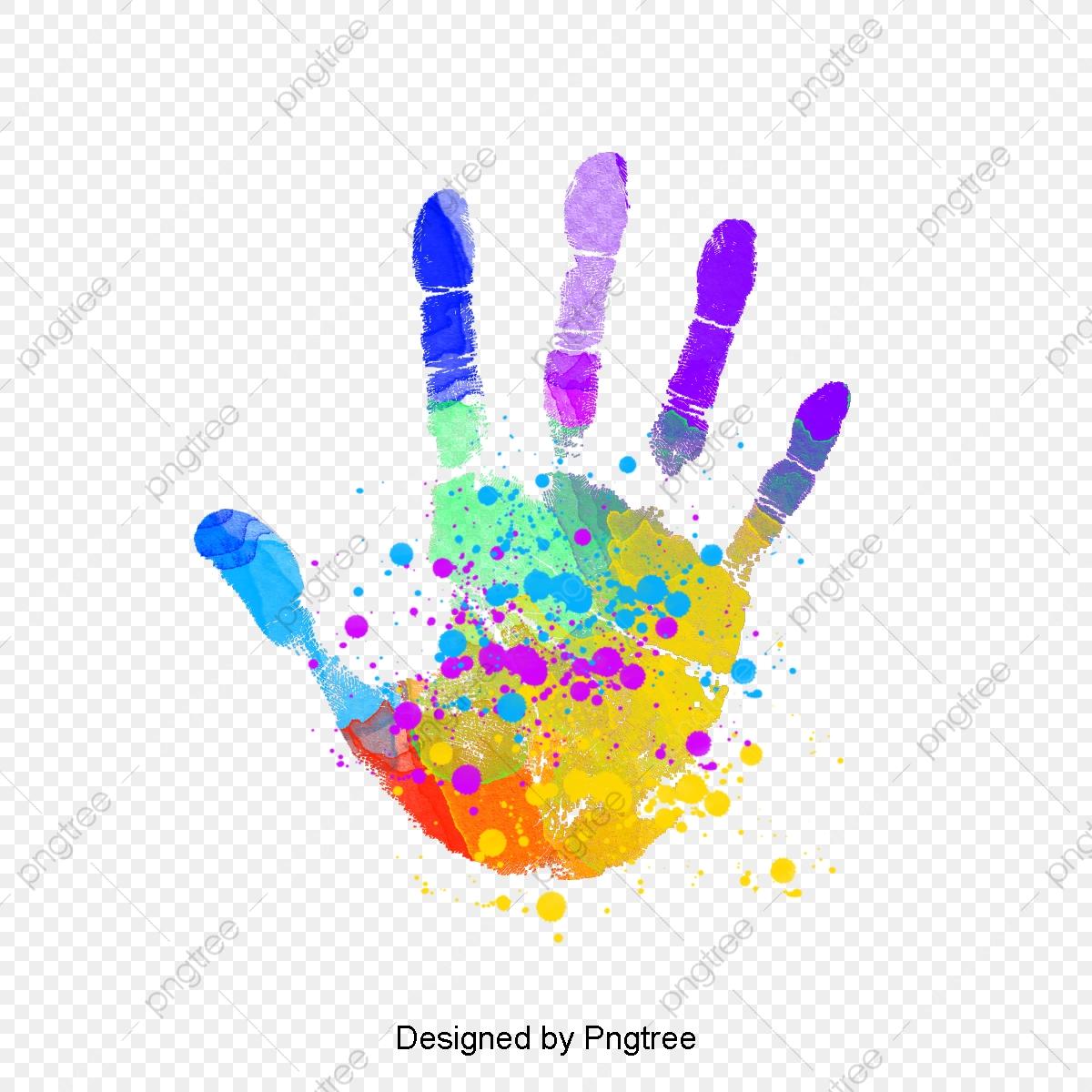 Handprint clipart colored. Graffiti color splash png