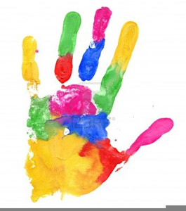 Handprint clipart colored. Color free images at