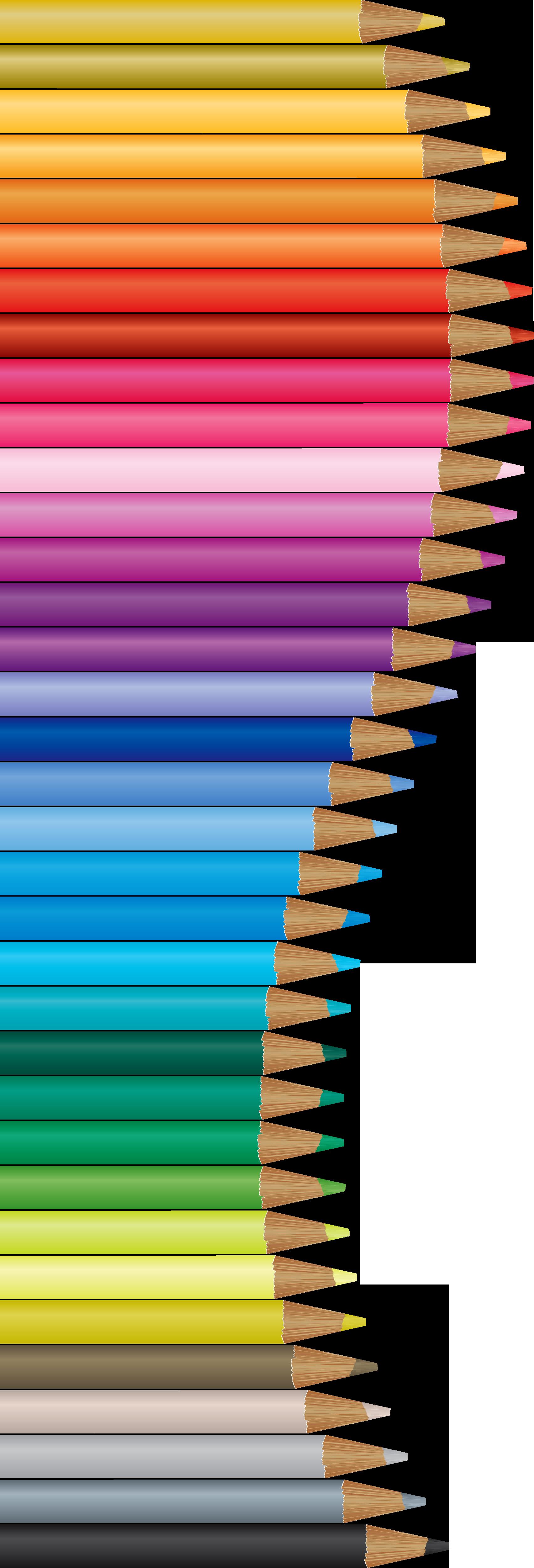 Handprint clipart colored pencil. Bordure crayons de couleurs