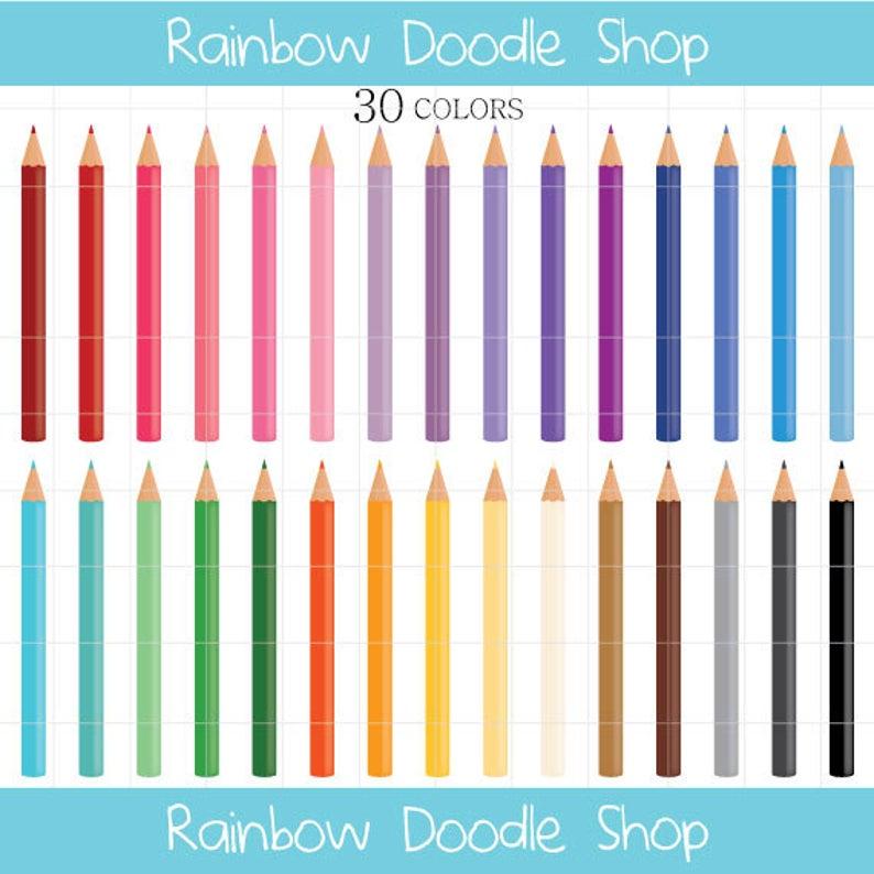 Handprint clipart colored pencil. Coloring pencils digital