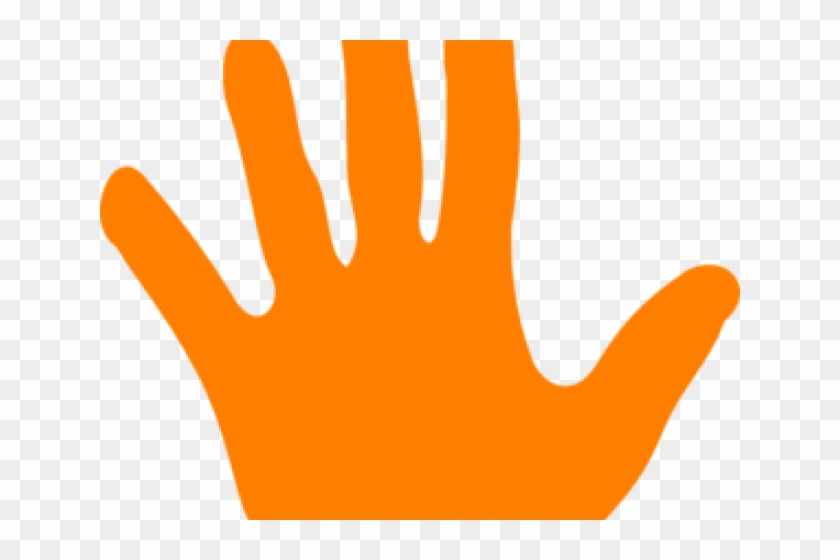 Handprint clipart colour hand. Colored orange hd png