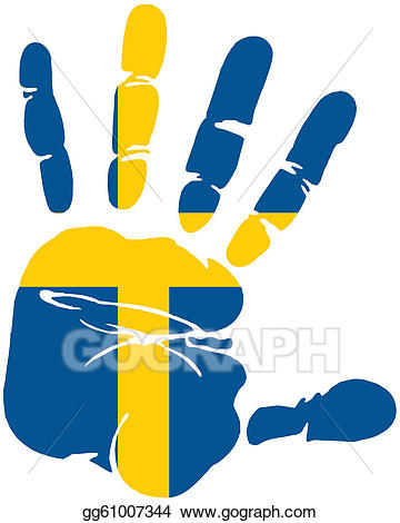 Vector stock flag of. Handprint clipart cross