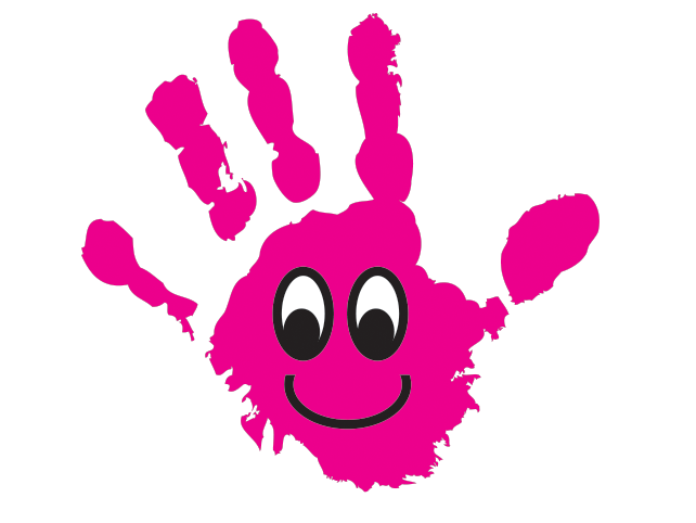 Handprint clipart day care. Creative learning and play