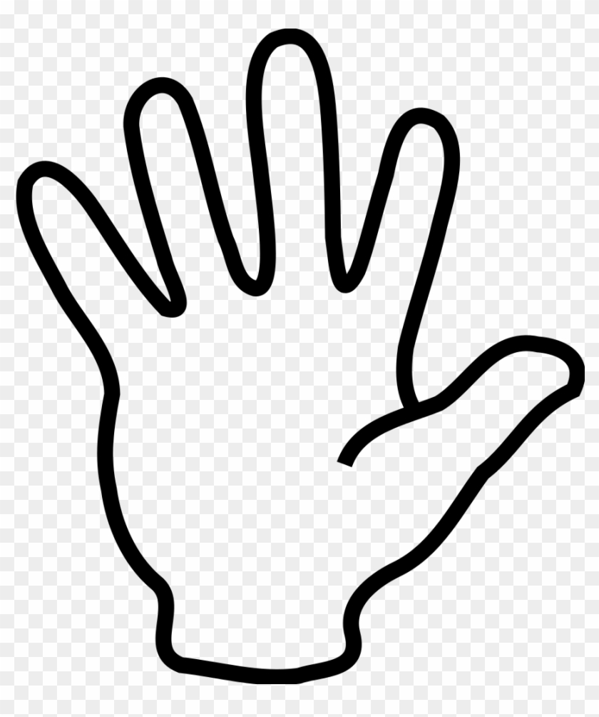 Right download hand drawing. Handprint clipart draw