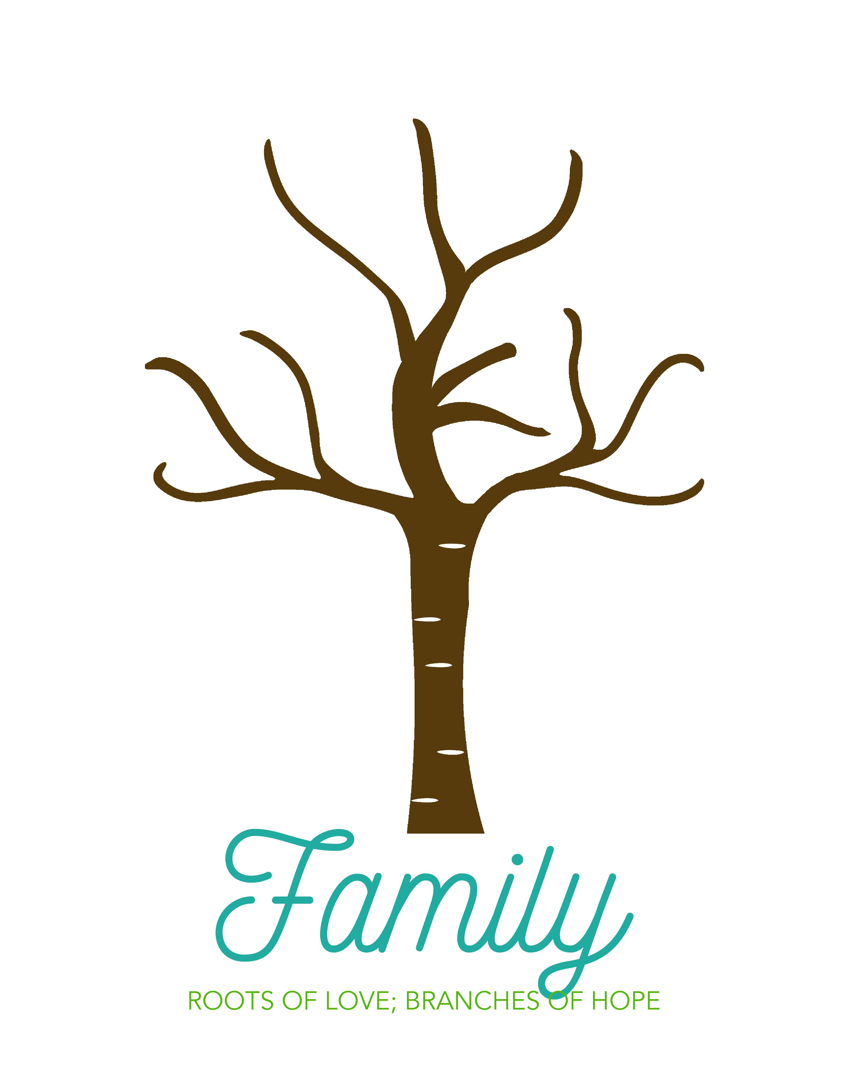 Handprint clipart family handprint. Make an adorable tree