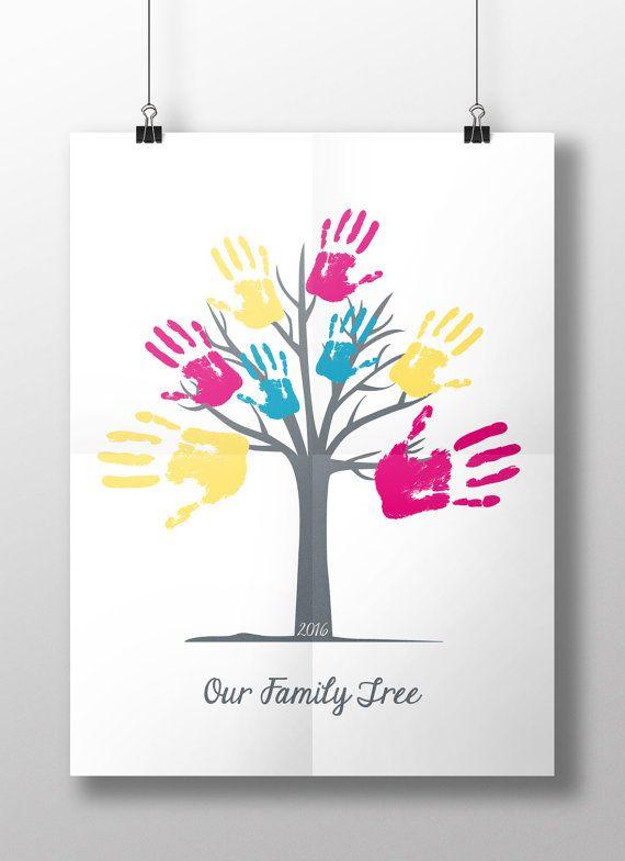 Handprint clipart family handprint. Printable hand print tree