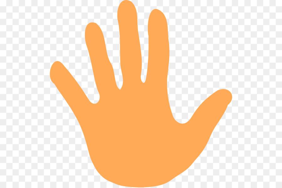 Handprint clipart finger. Line cartoon hand transparent