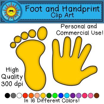 And clip art . Handprint clipart footprint