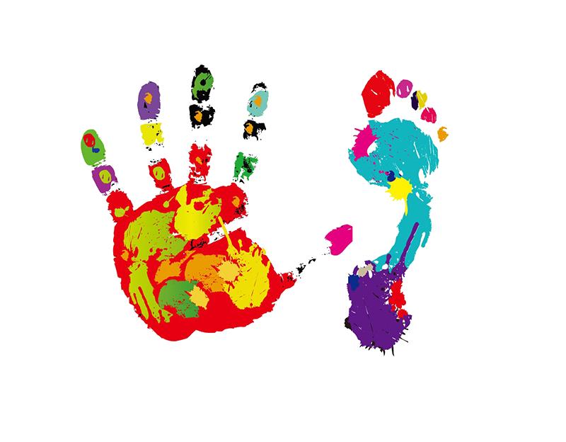 Footprint hand clip art. Paint clipart handprint