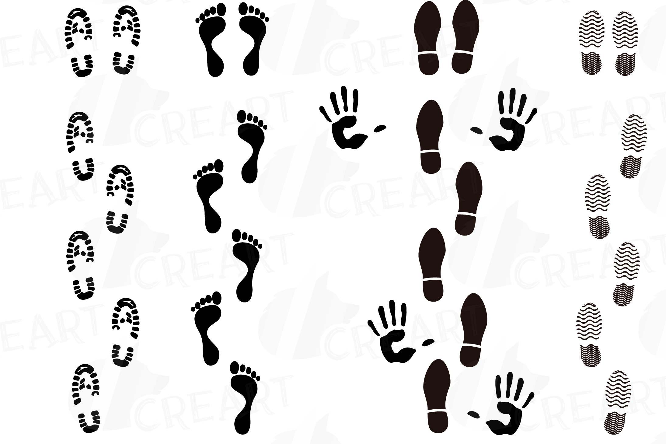 And pack human footprints. Handprint clipart footprint