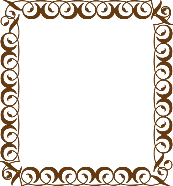 Museum border cliparts free. Handprint clipart frame