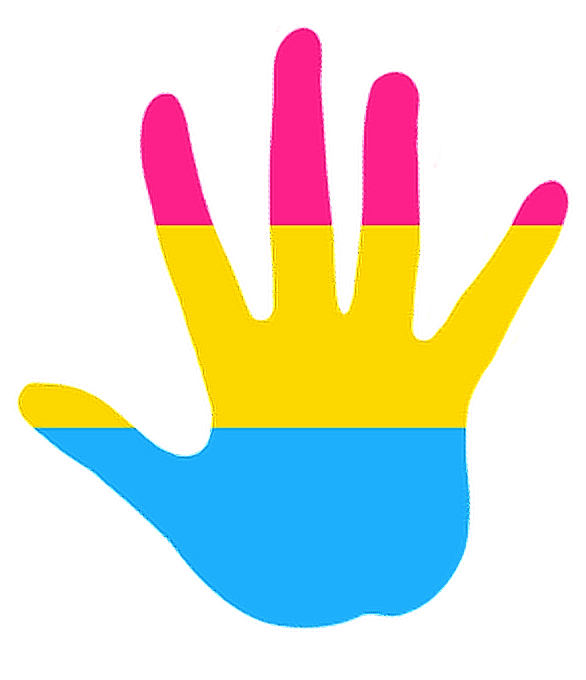 Paint clipart handprint. Pansexual hand freetoedit