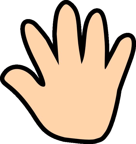 Number 1 clipart hand. Light print clip art