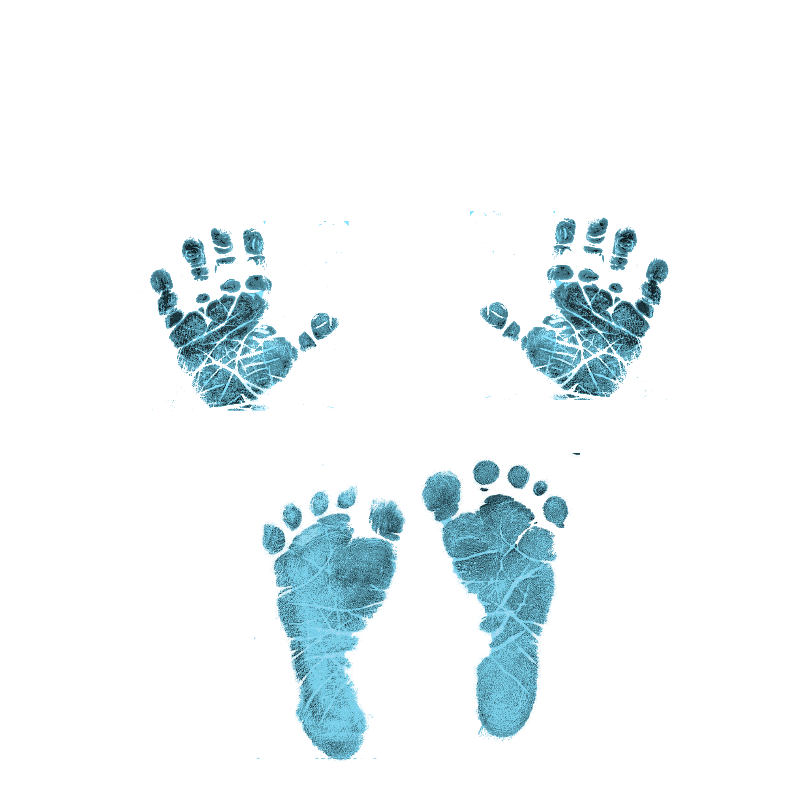 collection of baby. Handprint clipart hand foot