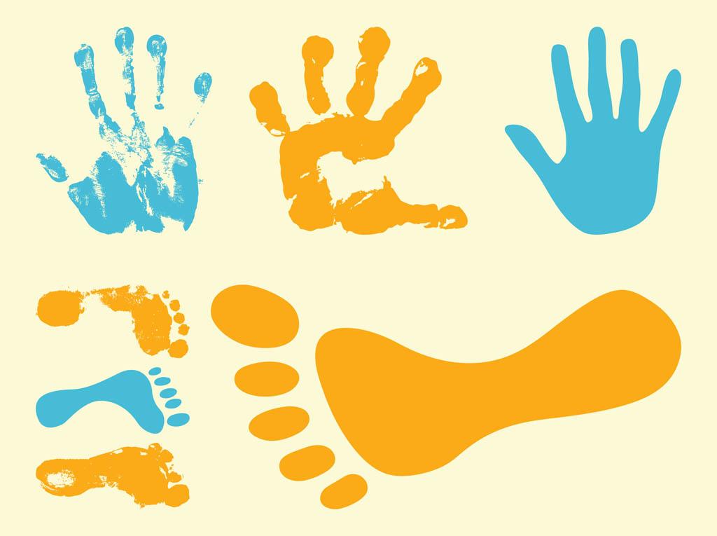Handprint clipart hand foot. Prints free download best