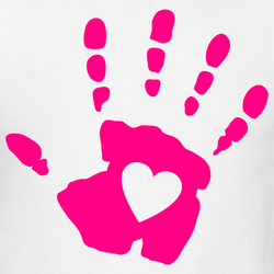Handprint clipart hand impression. Red print clip art