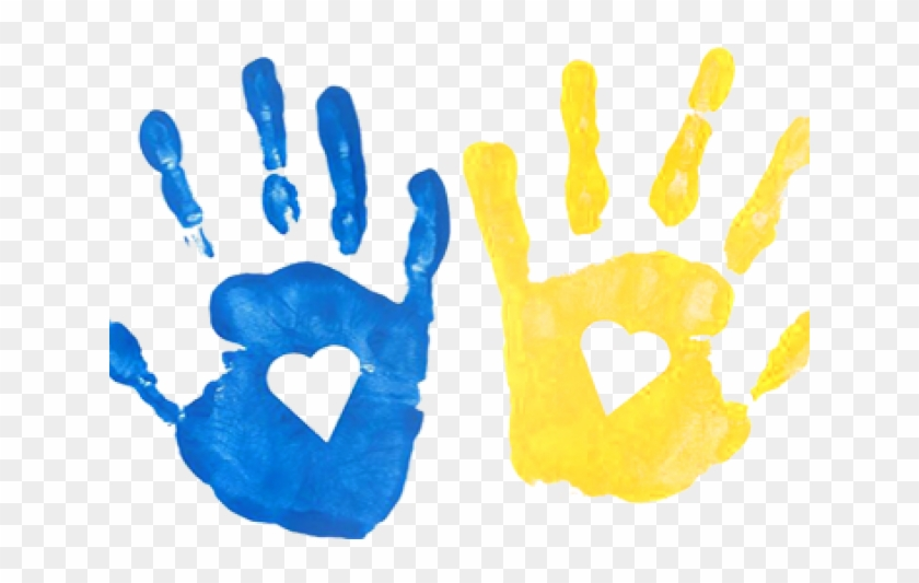 Handprint clipart hand impression. Transparent background kids prints
