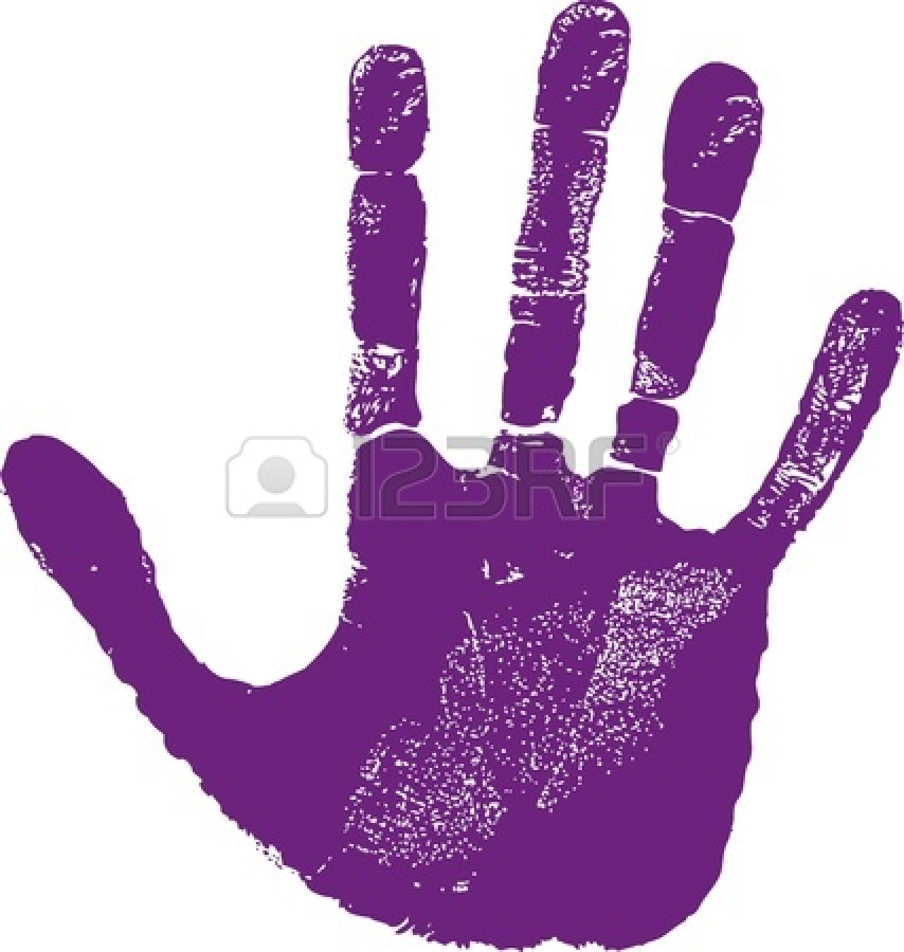 Red print clip art. Handprint clipart hand impression