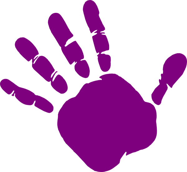 Handprint clipart hand template. Childrens print free download