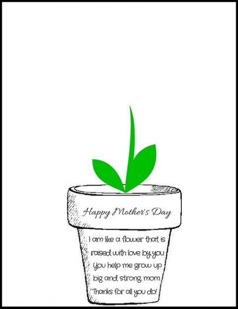 Handprint clipart handprint flower. Pot mothers day poem