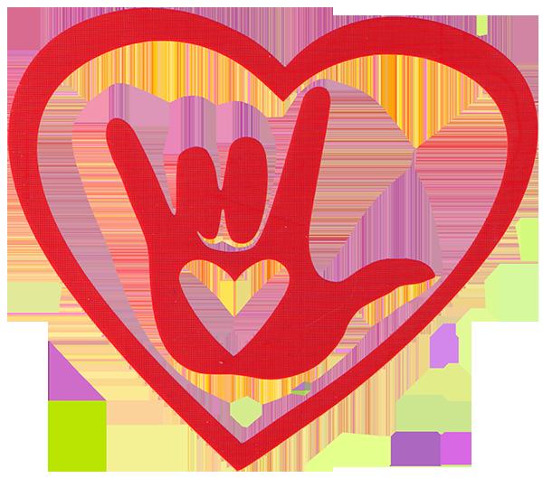 Handprint clipart heart. Free hand cut out