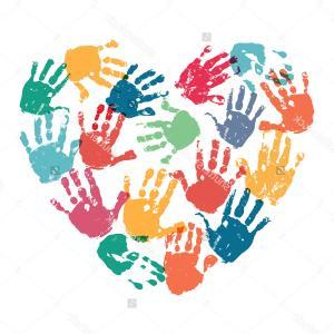 Free cliparts download clip. Handprint clipart heart