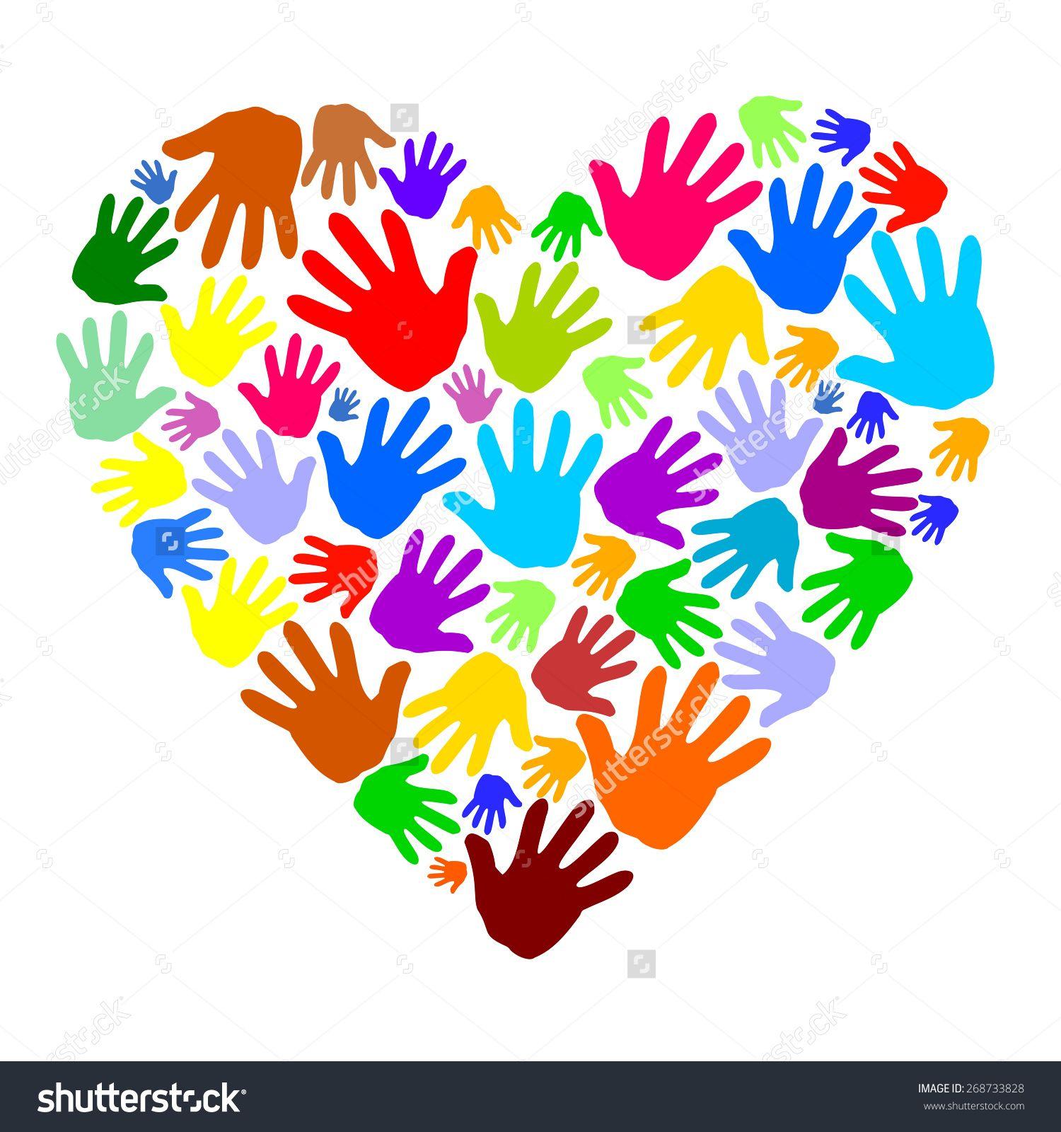 Logo stock images similar. Handprint clipart heart