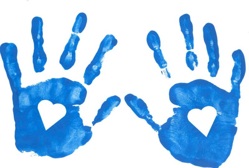 Free cliparts download clip. Handprint clipart heart middle