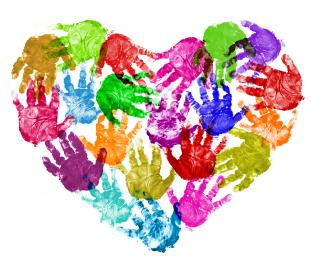 Handprint clipart heart. Free cliparts download clip