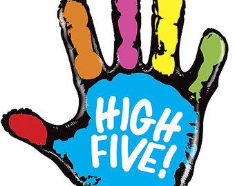 Hi free download best. Handprint clipart high five