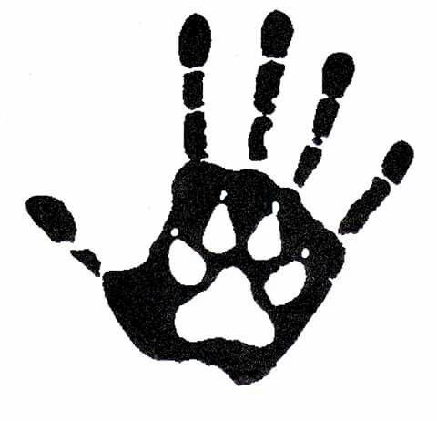 Wolf wolves tattoos dog. Handprint clipart human
