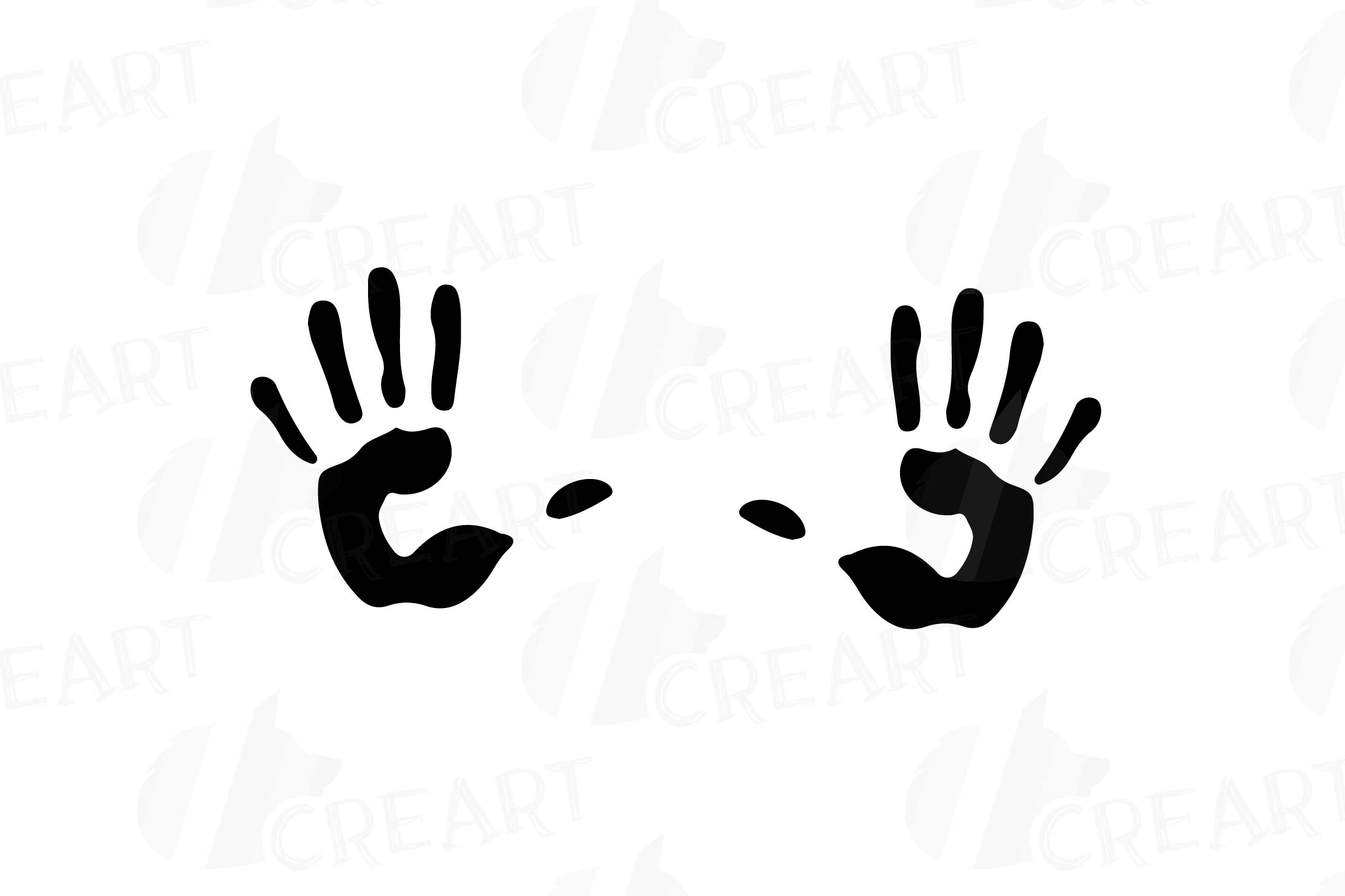 Handprint clipart human. Footprint and pack footprints