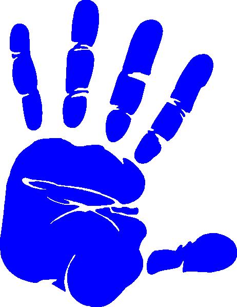 Handprint clipart left. Png transparent images