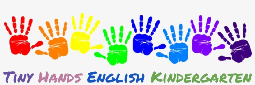 Handprint clipart little. Tiny hands english kindergarten