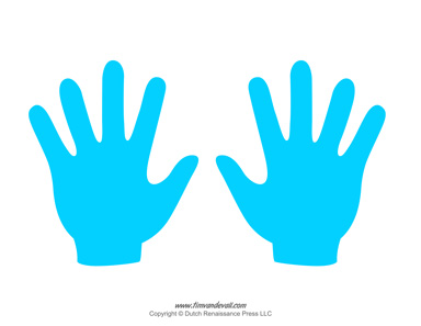 Handprint clipart little. Tim van de vall