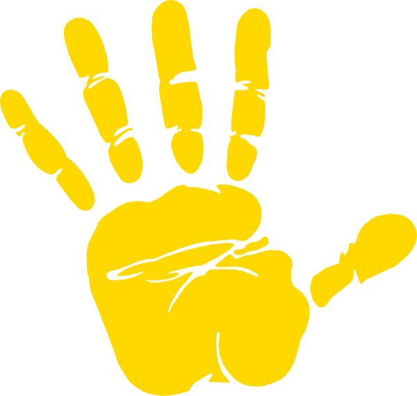 Waving animation cliparts co. Handprint clipart little hand